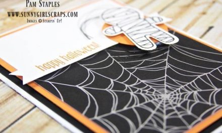 A Cookie Cutter Mummy spinning a Spider Web Tale with the Paper Craft Crew Sketch 213!