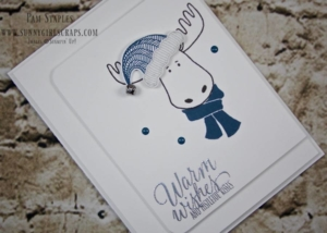 Play along with Freshly Made Sketches. Check out my submission featuring the Jolly Friends Moose with this adorable Clean and Simple Card created by Pam Staples, SunnyGirlScraps. #sunnygirlscraps #papercrafts #fms257 #stampinup Visit my blog and order supplies today from www.sunnygirlscraps.com