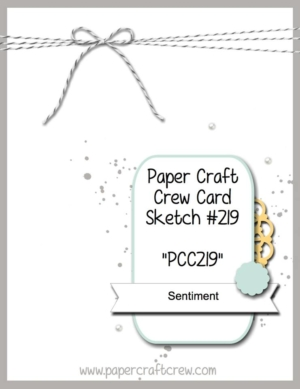 Play along with the Paper Craft Crew with Card Sketch 219 ends on 11/22 at 1:00 PM EST. Visit www.papercraftcrew.com for the latest challenge. #papercraftcrew #pcc2016 #sunnygirlscraps #cards #stampinup