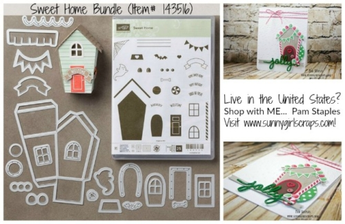 Sweet Home Bundle Item 140279 from Stampin' Up! which coordinates with the Big Shot Die Cutting Machine Item 143263. Shop today with Pam Staples, SunnyGirlScraps. Order yours today by visiting my blog: www.sunnygirlscraps.com #bigshot #sweethome #sunnygirlscraps #stampinup #diecutting #cards