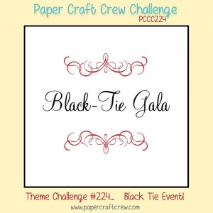 Play along with the Paper Craft Crew! Black Tie Gala Theme Challenge #224 ends on 1/3/2017. Visit www.papercraftcrew.com for the latest challenge. #papercraftcrew #pcc2016 #pcc2017 #sunnygirlscraps #cards #stampinup