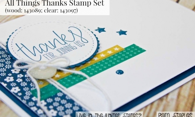 All Things Thanks Clean and Simple Card for PCC235