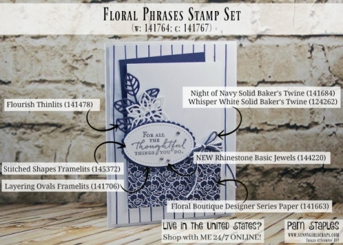 SunnyGirlScraps Stamp It Tips featuring a Floral Phrases Handmade Card created by Pam Staples. Visit www.sunnygirlscraps.com for more details or to place an order today. #stampittips #floralphrases #sunnygirlscraps
