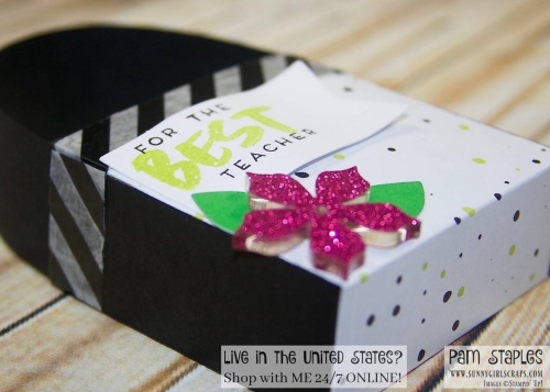 It's A Paper Pumpkin Thing - A Sara Thing blog hop featuring a 3D Treat Box using the April 2017 Paper Pumpkin Kit from Stampin' Up! For more details, visit my blog at www.sunnygirlscraps.com #apaperpumpkinthing #paperpumpkin #stampinup #sunnygirlscraps