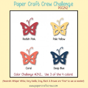 Paper Craft Crew Color Challenge 242 - papercraftcrew.com #pcc2017 #colorchallenge