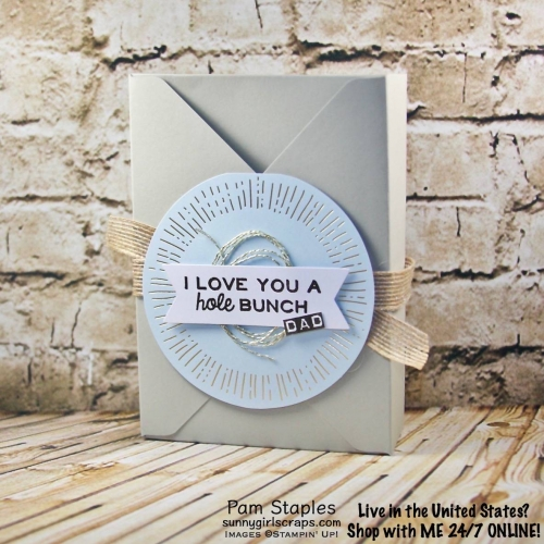 A Paper Pumpkin Thing - Sprinkled with Love Blog Hop is a fun hop for alternative Paper Pumpkin Kit ideas! This donut box featuring the May 2017 Paper Pumpkin Kit is by Pam Staples. Visit www.sunnygirlscraps.com for more details or to sign up for Paper Pumpkin today! #paperpumpkin #sprinkledwithlove #fathersday #donuts