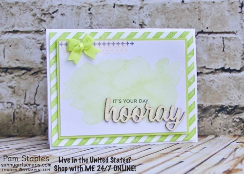 Welcome to It's a Paper Pumpkin Thing - Positively Picturesque Alternative Project Blog Hop. I've enjoyed the July 2017 Paper Pumpkin Kit. Projects created by Pam Staples. For additional detail visit www.sunnygirlscraps.com #paperpumpkin #alternativeppk #stampinup #handmade #sunnygirlscraps