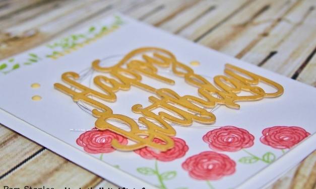 Happy Birthday Gorgeous Feminine Card for WWYS123