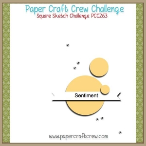 Visit the Paper Craft Crew and play along with Square Sketch Challenge 263. #pcc2017 #sketch #sunnygirlscraps #stampinup #snailmail #watercolorchristmas #diy #craft #crafts www.papercraftcrew.com