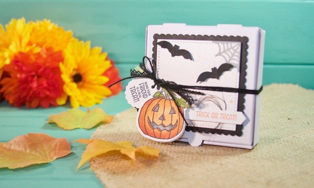 Stampin' Blends Seasonal Chums Pizza Box 3D