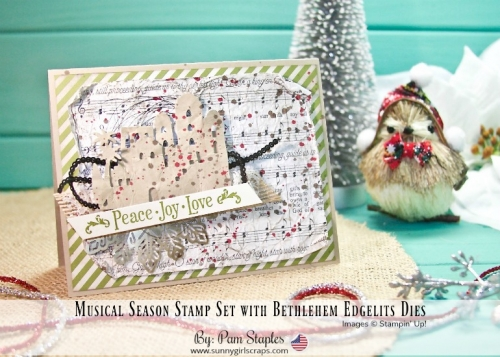Join me for a Very Vintage Bethlehem Edgelits Card created by Pam Staples. For details, visit www.sunnygirlscraps.com #veryvintagecard #vintage #bethlehemedgelits #holidaycards #handmade #sunnygirlscraps #stampinup #crafty #craft #stamp #create #getcrafty #holidaycrafts