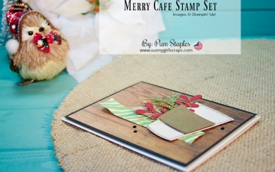 PCC272 Sketch: Merry Cafe Christmas Card