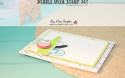 It's in the Details… Bubble Over Thank You Card for Sale-A-Bration