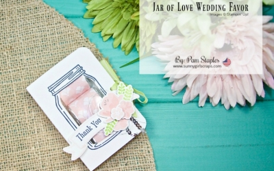 OSAT Blog Hop Happily Ever After Swan Lake Wedding Card