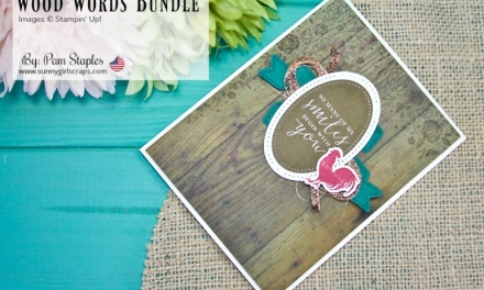 PCC 288: Wood Words Rustic Floral Card
