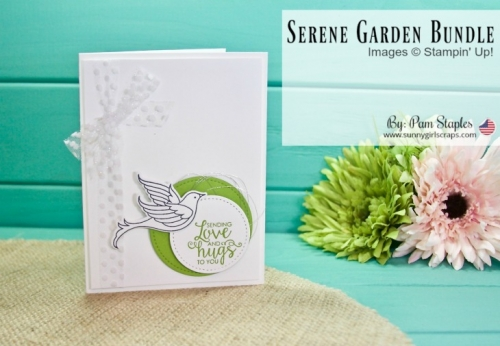 Order STAMPIN' UP! 24/7 Go to www.sunnygirlscraps.com and use Hostess Code: 9GCFMJ43 Purchase all the supplies you need to make this Clean and Simple card featuring the Serene Garden Bundle from Stampin' Up! #stampinup #hostesscode #sunnygirlscraps #papercrafts #handmadecards #creative #creativity #create #snailmail #makersgonnamake #papercraft #scrapbook #scrapbooks #scrapbooker #handmade #craft #crafter #cleanandsimple #CAS
