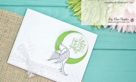 TCC95 – Serene Garden Clean and Simple Card