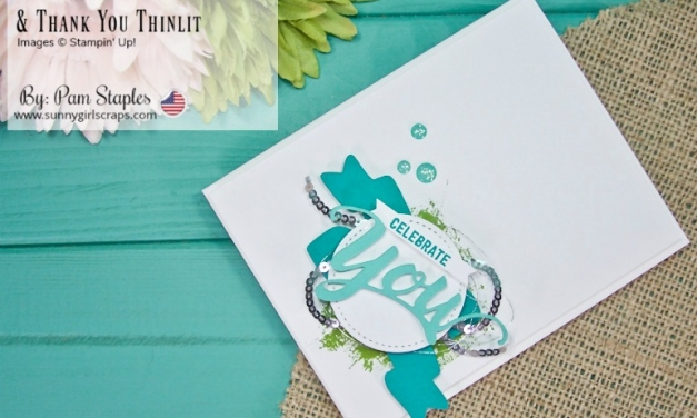 PCC296 – Celebrate You Card with Thank You Thinlit