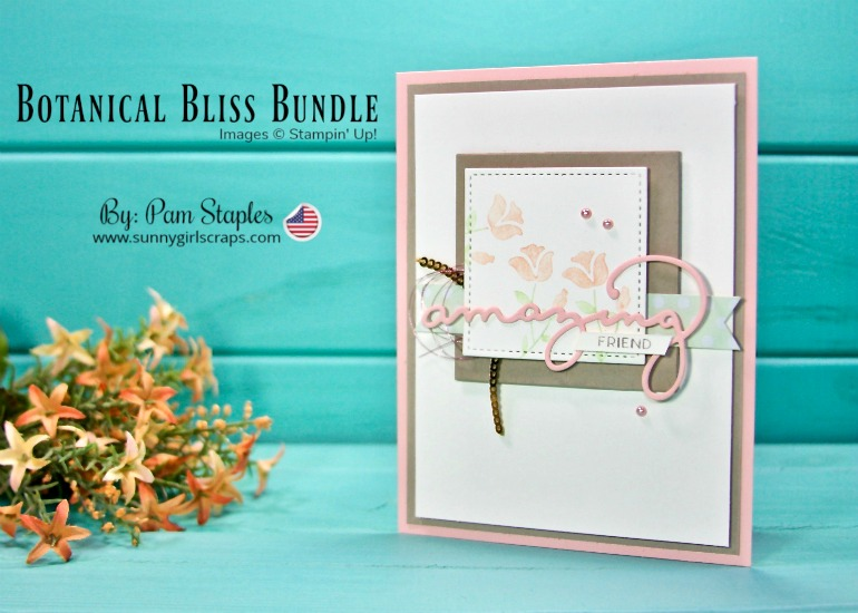 ORDER TODAY! SHOP Stampin' Up! ONLINE 24/7! Buy 3 / Get 1 Free Designer Series Paper Sale Join the Sunny Craftin' Crew and Stampin' Up! today! Go to www.sunnygirlscraps.com This card features the Botanical Bliss Stamp Set paired with the Celebrate You Thinlits. For more details, visit my blog. #shop #stampinup #papercraft #papercrafts #create #creative #creativity #becreative #makersgonnamake #craft #crafty #crafter #creating #createeveryday #botanicalbliss #sunnygirlscraps #sizzix #framelits #celebrateyouthinlits #handmadecard #femininecard #workingvacation #handmade #diy