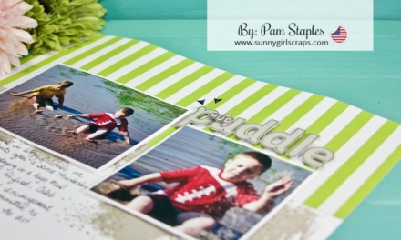 Scrapbook Sunday with the Lined Alphabet Bundle