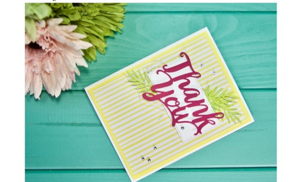 PCC 299: Thank You Card with the Thank You Thinlits