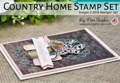 Country Home Shabby Chic card by Pam Staples, SunnyGirlScraps