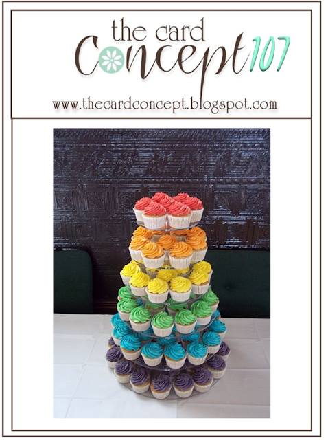 Play along with the TCC107 Rainbow Cupcake Challenge