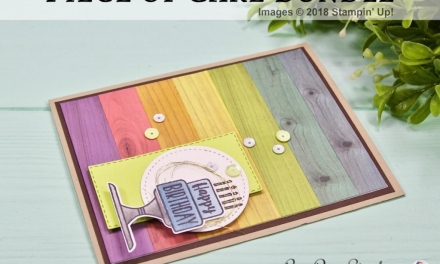 TCC107: Wood Wash Rainbow Card